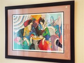 "Isaac Maimon's ""La Vie Francais"" signed and numbered print"