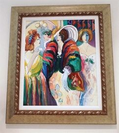 "Reproduction of Maimon's ""Reception"" done in acrylics"
