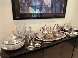 Vintage Silver plate serving pieces