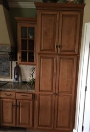 Another view of the kitchen cabinets.