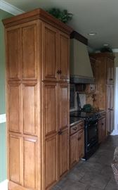 Another angle showing cabinet designs and height.