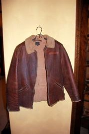 Named Soldier WWII Original B-6 Redskin Shearling Flight Jacket - Great Condition - VERY RARE!