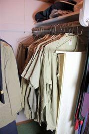 Shirts, Slacks, Hats, Belts Etc. WWII NAMED Soldier