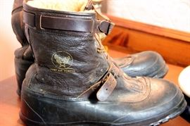 Army Air Corps. Shearling Boots WWII Named Soldier