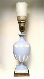 Wedgwood lamp, has original shade; few more small items of Wedgwood available