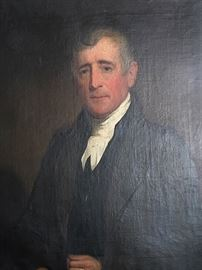 Well-done 1838 portrait of Henry Schell, grandfather to important naval and battle artist and illustrator Frederick B. Schell.  For details, refer to our Featured Work of Art in our inventory.
