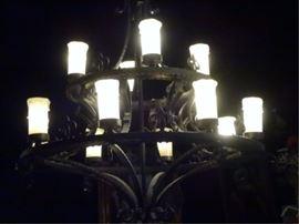 $350 12-LIGHT GOTHIC REVIVAL CHANDELIER