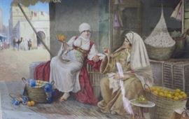 Richard H. Burfoot Watercolor. Middle Eastern Scene Signed