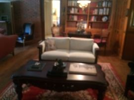 sofa, coffee table area rug