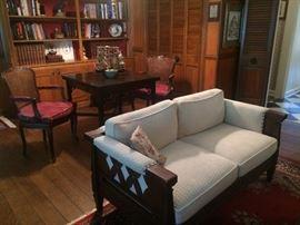 sofa , game table , books