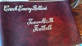 Texas A & M pouch used by Coach Bellard for game plays