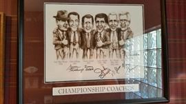 Signed by many coaches including Jackie Sherrill and Gene Stallings and Emory Bellard and Mike Sherman