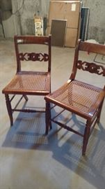 Set of dining chairs.