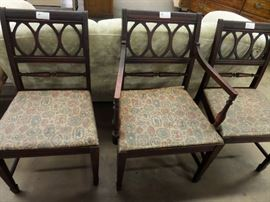 SET OF 3 DINNING CHAIRS