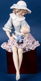 Lot 1 - Retired Lladro Putting Doll to Sleep #1379