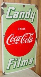 "1940's Porcelain Coca-Cola Drug Store Sign (18"" x 30"")"