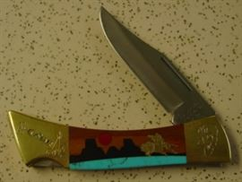 Year 1991 Case XX The Buffalo Hunter Lock Blade Knife - Limited Edition #607 - Hard To Find - Mint Condition