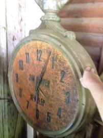 Late 1890s cast iron clock sign  SOLD!