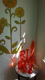 Much, much colored glassware. Blenko