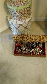Costume Jewelry, Hat Boxes