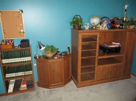 FURNITURE ENTERTAINMENT CENTER AND TABLES