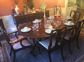 HENKEL HARRIS Dining Room Table, Chairs & Sideboard/Buffet