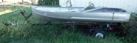 Sears Aluminum Fishing Boat On A Trailer
