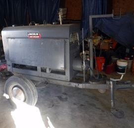 "Lincoln Arc Welder Model SA-200, No Leads, Requires 2"" Ball Hitch"
