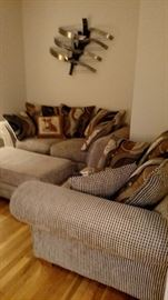 Beautiful family room furniture matching sofa, loveseat and chair.