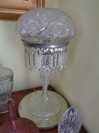 "Large Crystal Lamp from the 1950's to 1960""s"