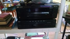 Receiver & 5 disc player