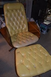 Plycraft Chair and Ottoman