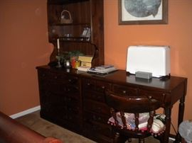 Ethan Allen Desk, dresser and & hutch/bookshelf