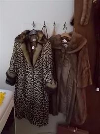 Leopard and some other kind of fur