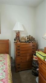 Part of the Master Bedroom Suite.  beautiful sleigh bed.