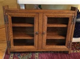 Hand-built oak cabinet