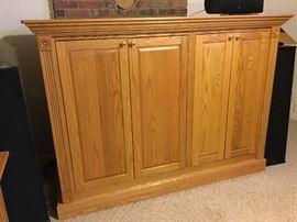 Custom-built oak cabinet
