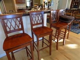 4 bar stools.