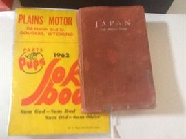 1962 Joke book, 1952 Japan the official guide