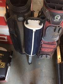 Golf Bags and Shag Bag Ball Pick Up
