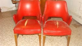"Four of these Authentic Retro "" Bianco"" Chairs----Need some TLC"
