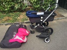 Bugaboo stroller set with bassinet and storage - New it retails for over $1200! The rolls royce of stroller's