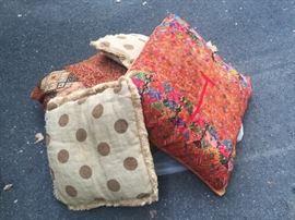 throw pillows - various sizes
