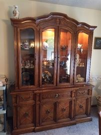 Modern Lighted China Cabinet