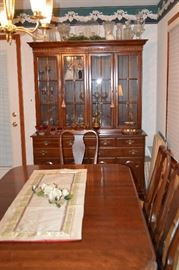 Ethan Allen table and China Cabinet Set!