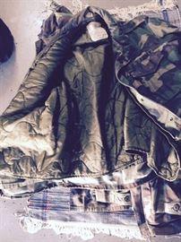 camo heavy jacket lining