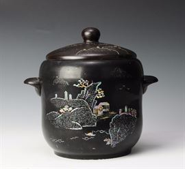 Lot 5 -Mother of Pearl Inlaid Pot, Korean