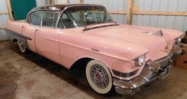 1957 Pink Cadillac Fleetwood 60 Special 66,000+ Miles