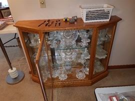 Another hand built cabinet filled with Hobnail glass