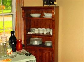 dishes, Cabinet is part of Desk set